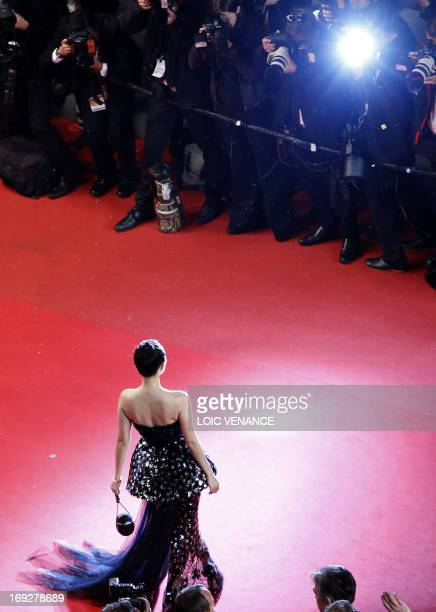 Chinese actress and member of the Un Certain Regard Jury Zhang Ziyi poses on May 22 2013 as she arrives for the screening of the film 'My Sweet...
