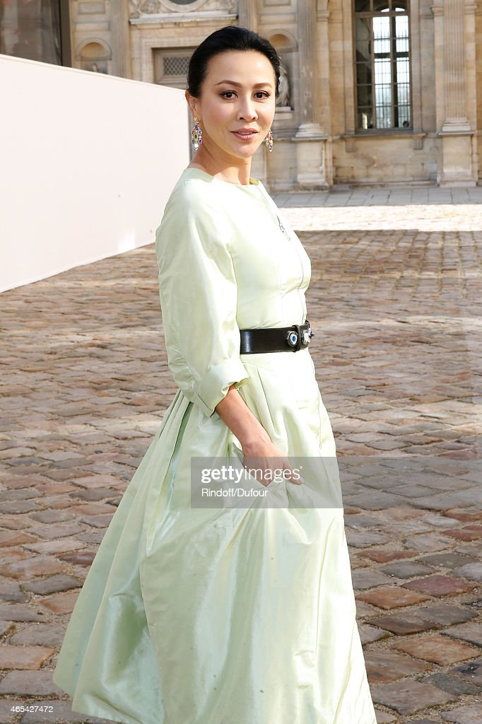 Chinese actress <a gi-track='captionPersonalityLinkClicked' href=/galleries/search?phrase=Carina+Lau&family=editorial&specificpeople=663580 ng-click='$event.stopPropagation()'>Carina Lau</a> attends the Christian Dior show as part of the Paris Fashion Week Womenswear Fall/Winter 2015/2016 on March 6, 2015 in Paris, France.