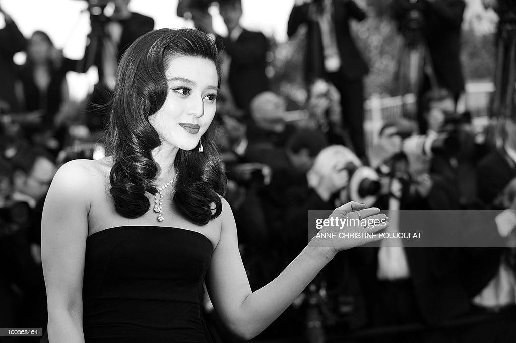 Chinese actress Fan Bingbing arrives for the screening of 'Des Hommes et des Dieux' (Of God and Men) presented in competition at the 63rd Cannes Film Festival on May 18, 2010 in Cannes.