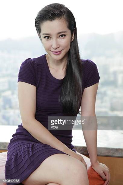 Chinese actress Li Bingbing during an interview to promote 'Transformers Age of Extinction' on June 18 2014 in Hong Kong China