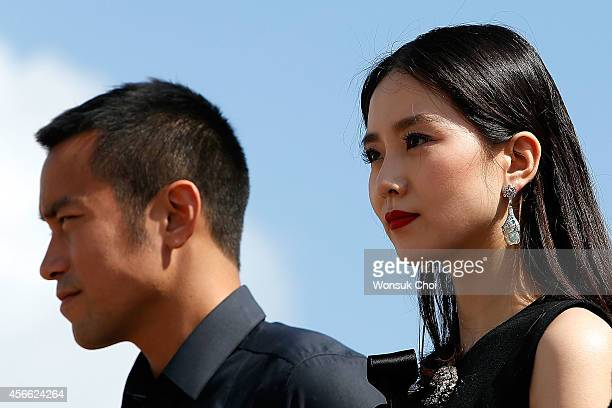 Chinese actress Liu ShiShi and Taiwanese actor Hsiao Chuan Chang attend the press conference 'Special Encounter of Chinese and Japanese Filmmakers'...