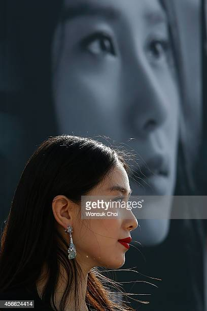 Chinese actress Liu ShiShi attends the press conference 'Special Encounter of Chinese and Japanese Filmmakers' featured actors from the movie 'Five...