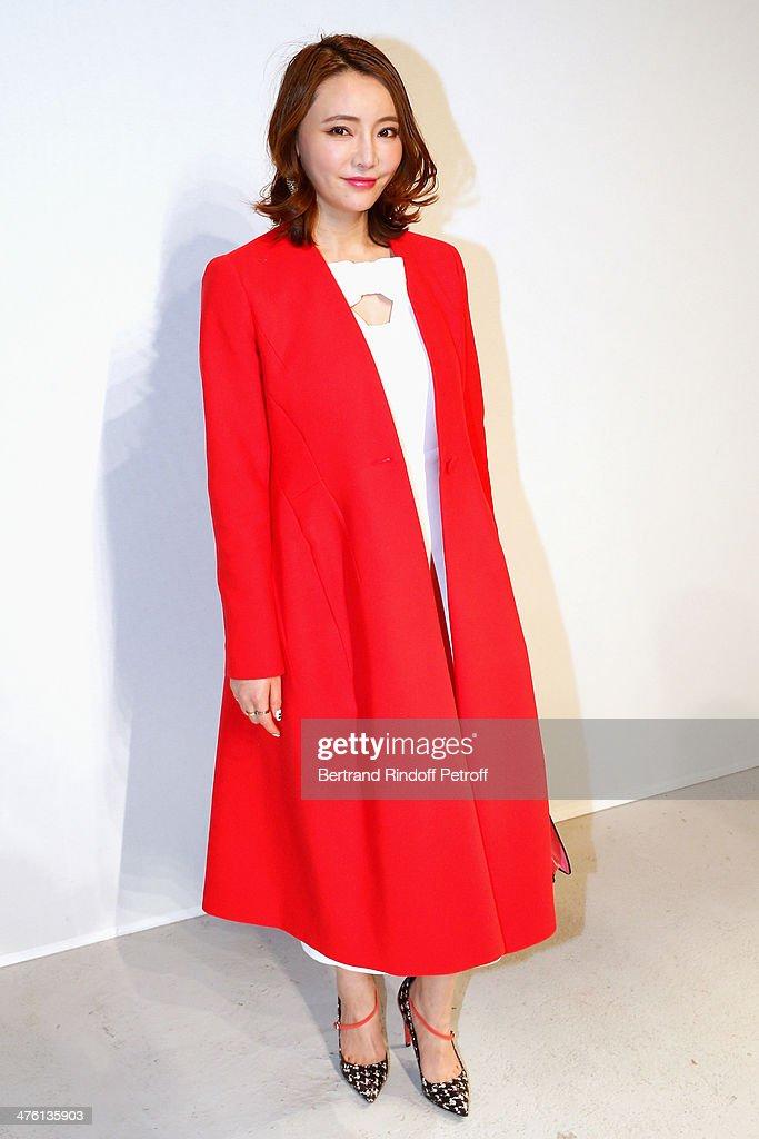 Chinese actress Shishi Liu attends the John Galliano show as part of the Paris Fashion Week Womenswear Fall/Winter 2014-2015 on March 2, 2014 in Paris, France.