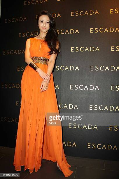 Chinese actress Tang Wei attends ESCADA new store opening ceremony on September 16 2011 in Shanghai China