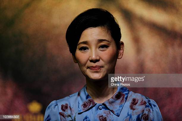 Chinese actress Xu Fan attends the premiere of IMAX film 'Aftershock' featuring the 1976 Tangshan earthquake that killed 300000 people on July 13...