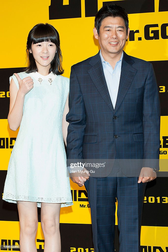 Chinese actress Xu Jiao and South Korean actor Sung Dong-Il attend during a promotional event for the 'Mr. Go' Showcase at the Westin Chosun Hotel on May 29, 2013 in Seoul, South Korea. The film will open in July in South Korea.