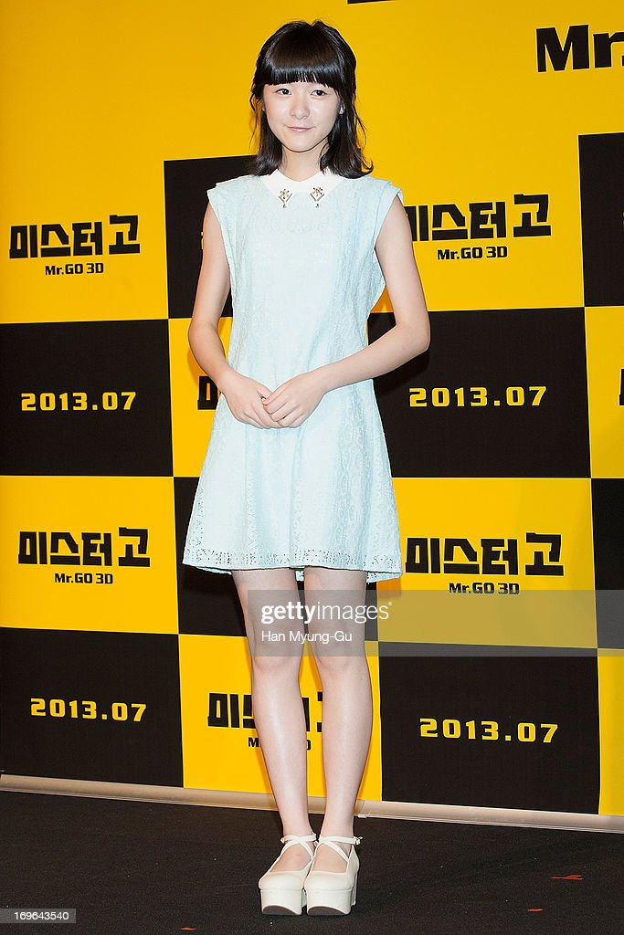 Chinese actress Xu Jiao attends during a promotional event for the 'Mr. Go' Showcase at the Westin Chosun Hotel on May 29, 2013 in Seoul, South Korea. The film will open in July in South Korea.