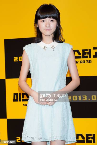 Chinese actress Xu Jiao attends during a promotional event for the 'Mr Go' Showcase at the Westin Chosun Hotel on May 29 2013 in Seoul South Korea...