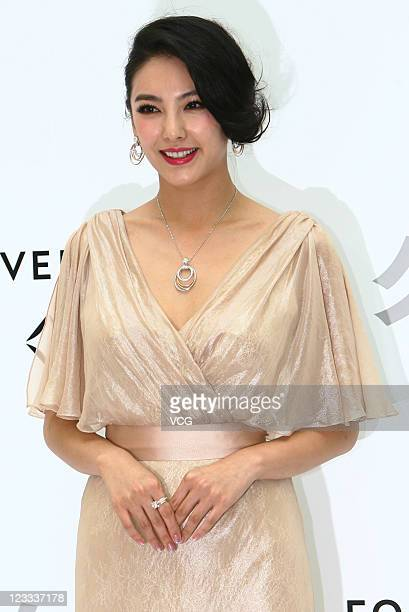 Chinese actress Zhang Yuqi attends a Forevermark new product launch at Jiu Guang Department Store on September 1 2011 in Shanghai China