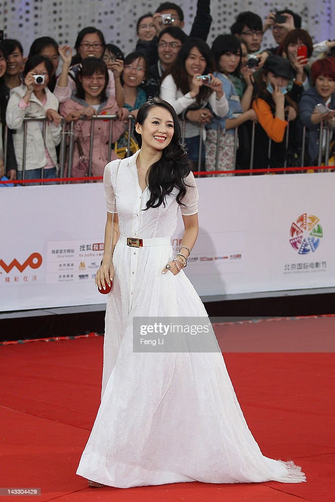 Chinese actress Zhang Ziyi arrives for the red carpet of 2nd Beijing International Film Festival at China National Convention Center on April 23, 2012 in Beijing, China.