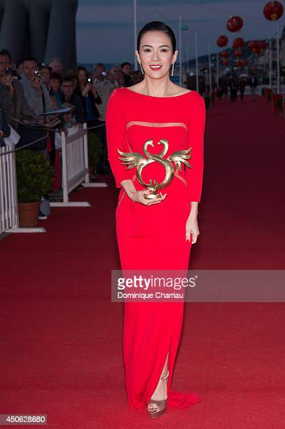 Chinese actress Zhang Ziyi awarded 'Swan d'honneur' during the 28th Cabourg Film Festival Day 4 on June 14 2014 in Cabourg France