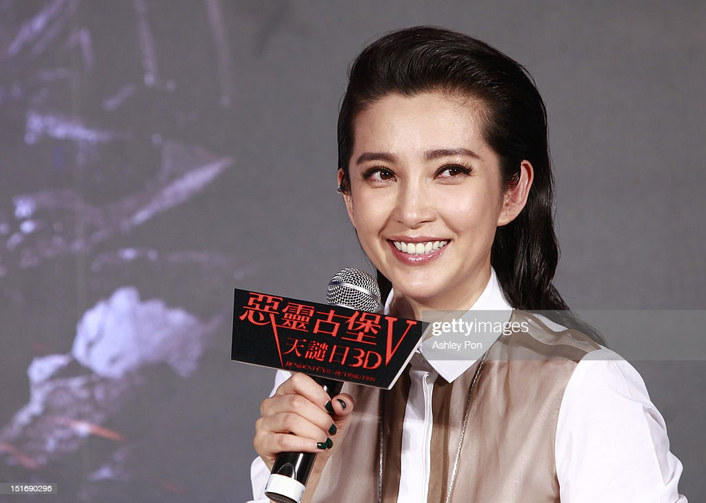 Chinese actress/singer Li Bingbing speaks during the 'Resident Evil 5: Retribution' press conference on September 10, 2012 in Taipei, Taiwan.