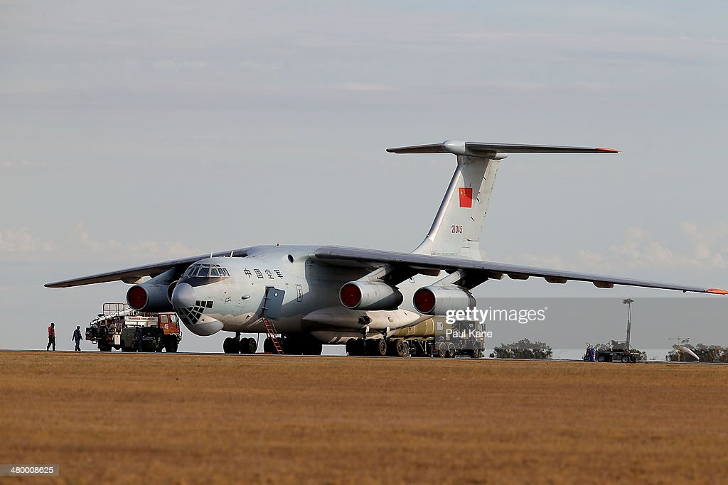 Chinese Air Force Ilyushin Il76 is prepared for flight at the RAAF base Pearce in readiness to commence a search for possible debris on March 22 2014...