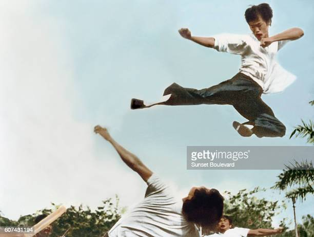 Chinese American martial artist and actor Bruce Lee on the set of Big Boss written and directed by Wei Lo