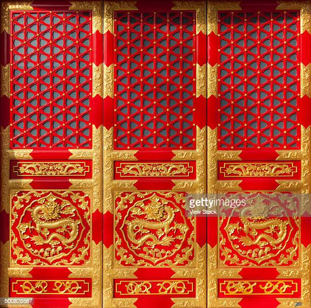 Chinese ancient red gate