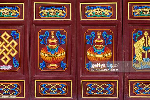 Chinese ancient wooden door