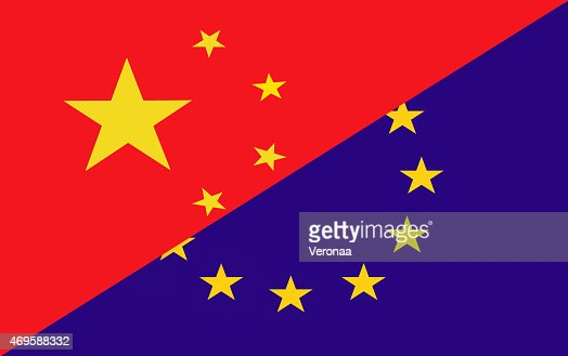 Chinese and Europe flag