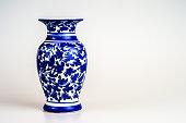 chinese antique vase on the plain back ground