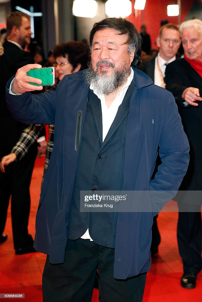 Chinese artist <a gi-track='captionPersonalityLinkClicked' href=/galleries/search?phrase=Ai+Weiwei&family=editorial&specificpeople=4331218 ng-click='$event.stopPropagation()'>Ai Weiwei</a> attends the 'Hail, Caesar!' premiere during the 66th Berlinale International Film Festival Berlin at Berlinale Palace on February 11, 2016 in Berlin, Germany.