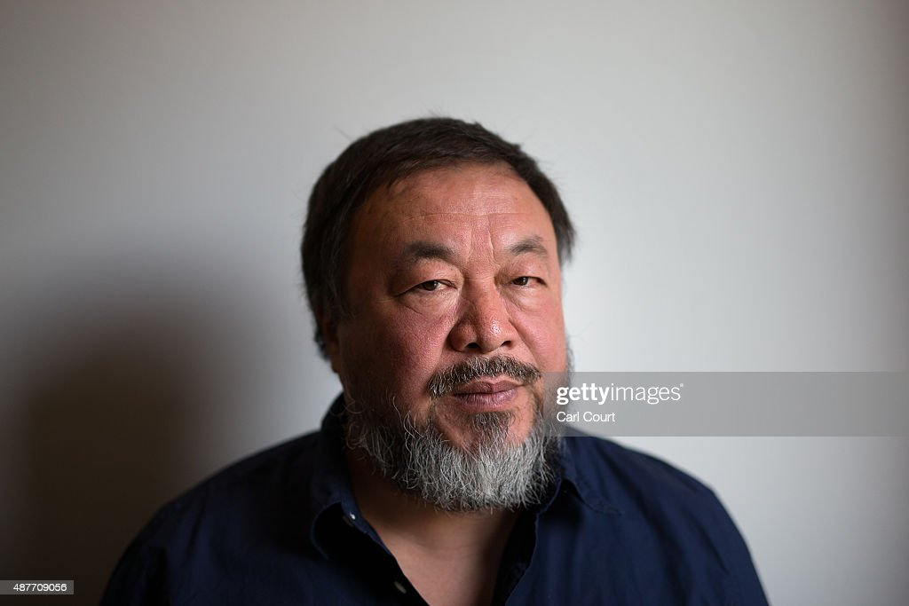 Chinese artist <a gi-track='captionPersonalityLinkClicked' href=/galleries/search?phrase=Ai+Weiwei&family=editorial&specificpeople=4331218 ng-click='$event.stopPropagation()'>Ai Weiwei</a> poses for a photograph after a press conference at the Royal Academy of Arts on September 11, 2015 in London, England. <a gi-track='captionPersonalityLinkClicked' href=/galleries/search?phrase=Ai+Weiwei&family=editorial&specificpeople=4331218 ng-click='$event.stopPropagation()'>Ai Weiwei</a> spoke to the media ahead of his forthcoming exhibition at the Academy which runs from September 19 to December 13, 2015.