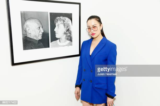 Chinese Artist Yi Zhou attends 'Picasso and Maya Father and Daughter' Exhibition Curated By Diana Widmaier Picasso at Gagosian Paris on October 19...