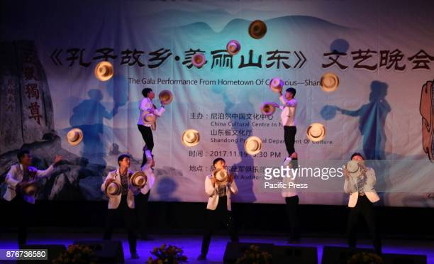 Chinese Artists from Shandong show acrobatic skills in a Gala performance organized in KathmanduNepal The event was organized by The Gala performance...