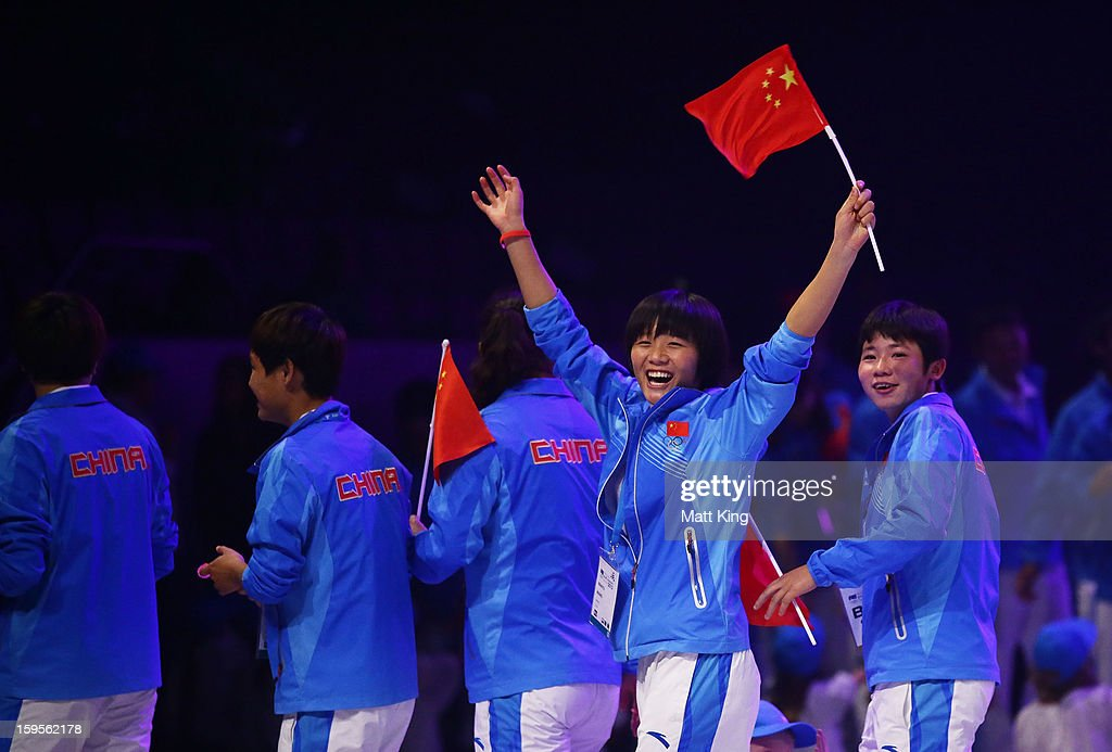 Chinese athletes take part in the Australian Youth Olympic Festival Opening Ceremony during day one of the 2013 Australian Youth Olympic Festival at Sydney Entertainment Centre on January 16, 2013 in Sydney, Australia.