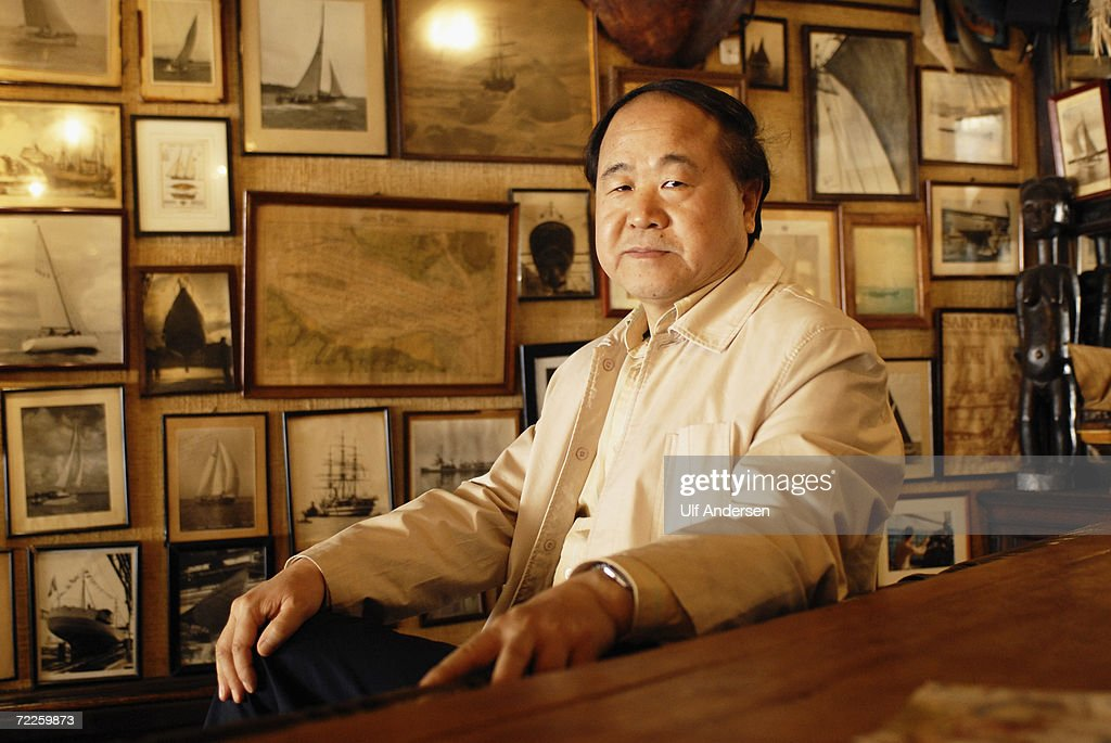 Chinese author <a gi-track='captionPersonalityLinkClicked' href=/galleries/search?phrase=Mo+Yan&family=editorial&specificpeople=3971964 ng-click='$event.stopPropagation()'>Mo Yan</a> poses while at the Saint Malo Book Fair in Saint Malo, France on the 4th of June 2006.