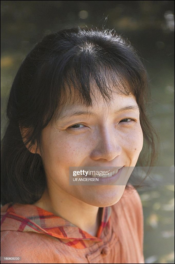 Chinese author Ying Chen portrait session on June 18, 2003 in France.