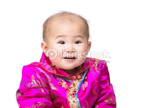 a57d5db9c Chinese Baby Smile With Traditional Costume Stock Photo | Thinkstock