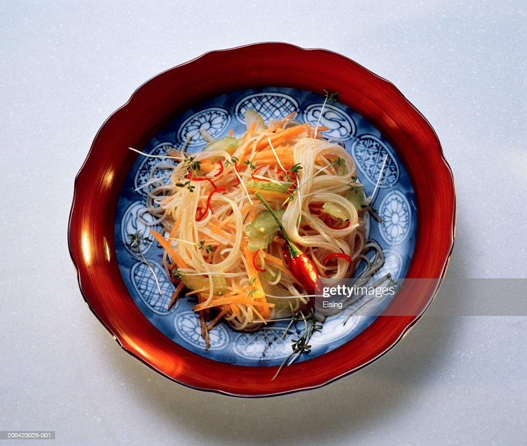 Chinese Bean Thread Noodle Salad : Stock Photo
