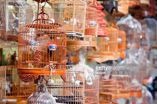 Chinese Bird Cage for Sale at Kowloon Market Hong Kong