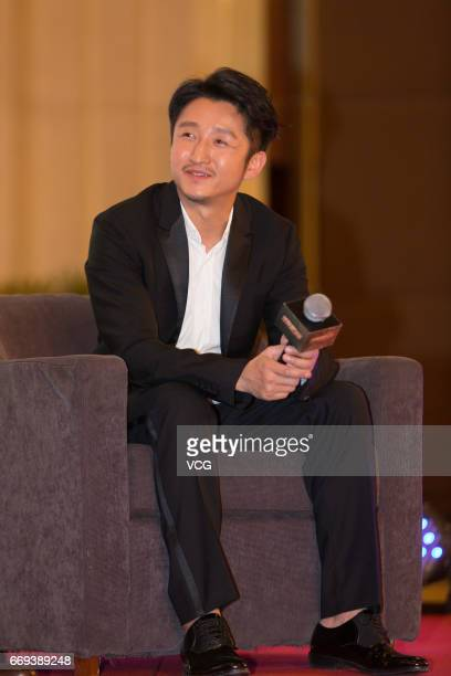 Chinese boxer Zou Shiming attends the press conference of Bollywood director Nitesh Tiwari's film 'Dangal' during the 2017 Beijing International Film...