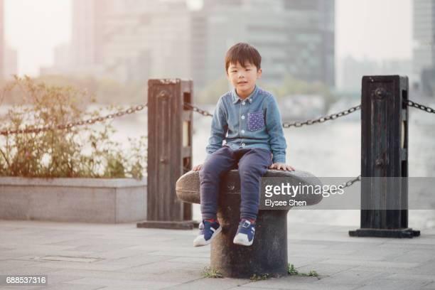 A Chinese boy in Shanghai