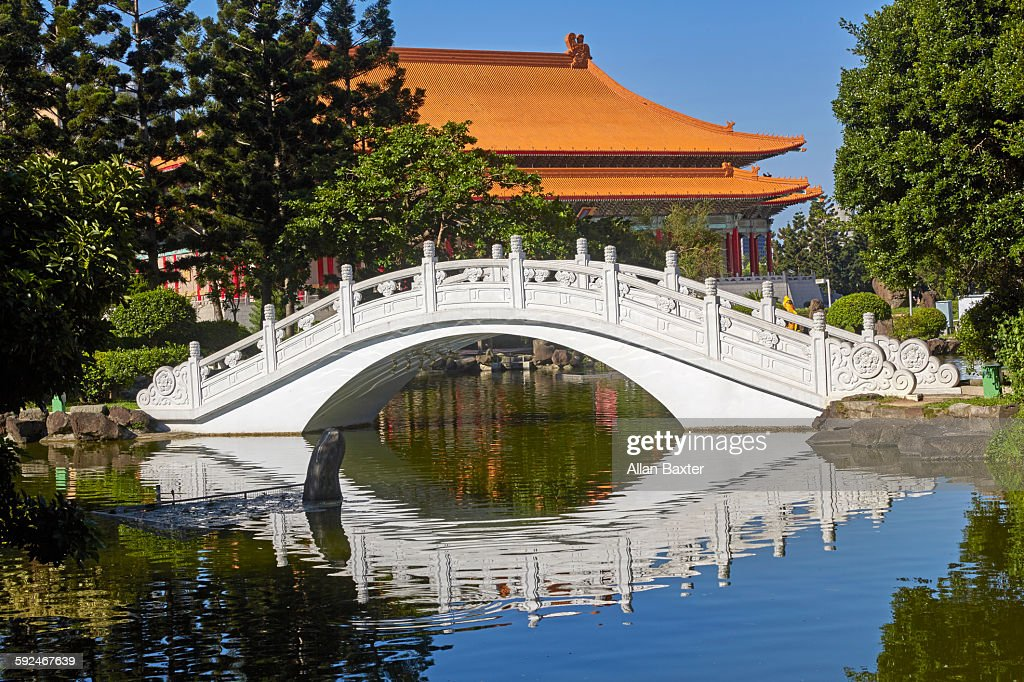 Chinese bridge at Memorial Hall square