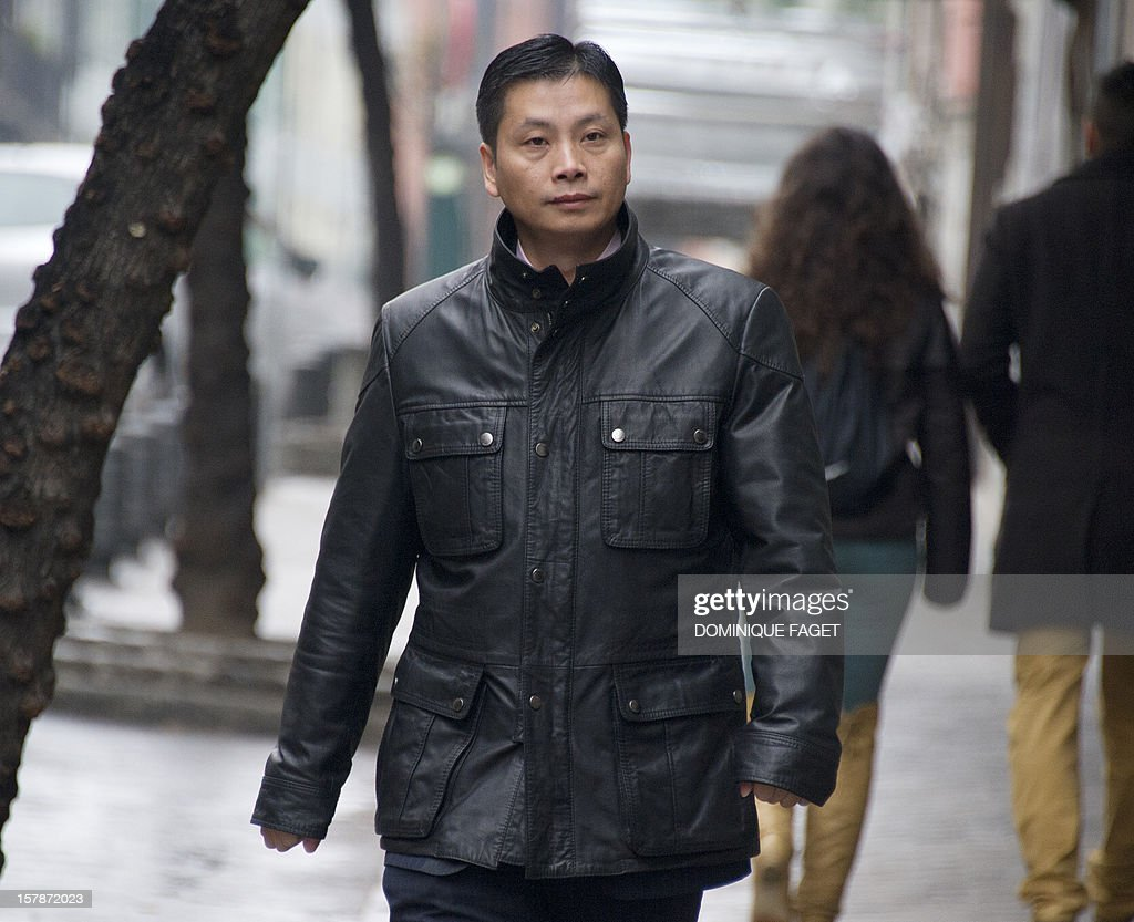 Chinese businessman and art gallery owner Gao Ping, who is free on bail with conditions arrives at the court in Madrid on December 7, 2012. Gao Ping is suspected of leading a massive money-laundering gang in Spain.