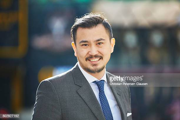 Chinese businessman in suit and tie