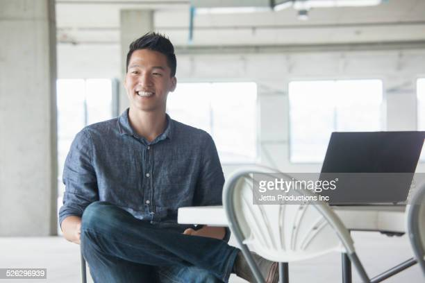 Chinese businessman smiling