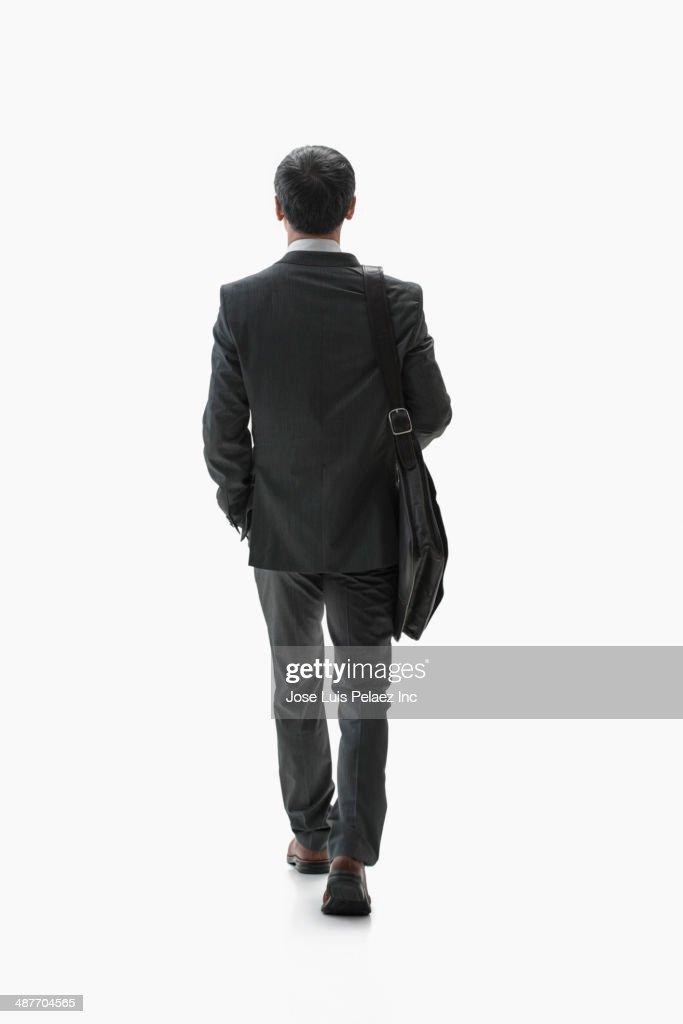 Chinese businessman walking
