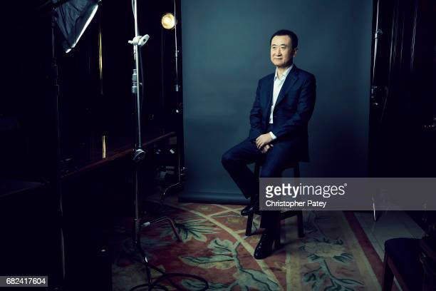 Chinese businessperson and the founder of Dalian Wanda Group Wang Jianlin is photographed for New York Times on October 15 2016 in Beverly Hills...