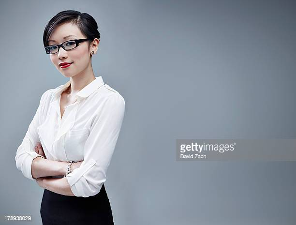 Chinese businesswoman looking at camera, portrait