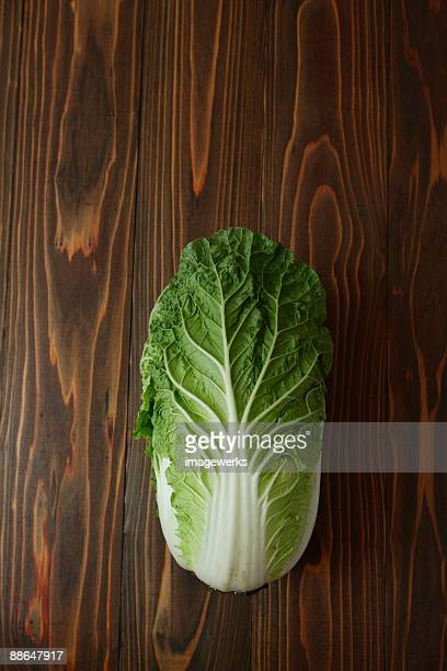 Chinese cabbage on table, close-up