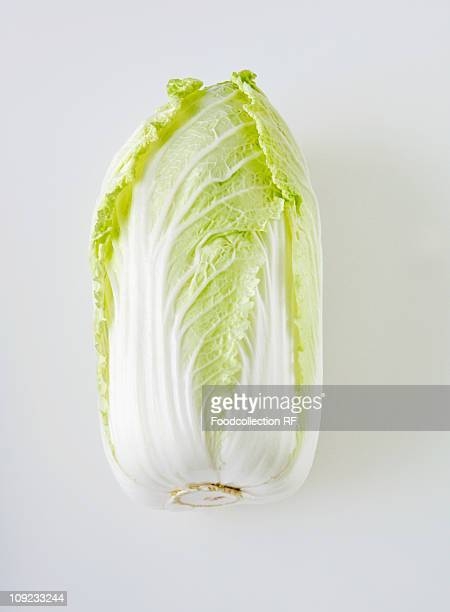 Chinese cabbage on white background, close-up