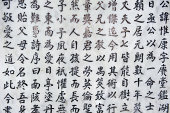 Chinese character background from Hong Kong Temple.