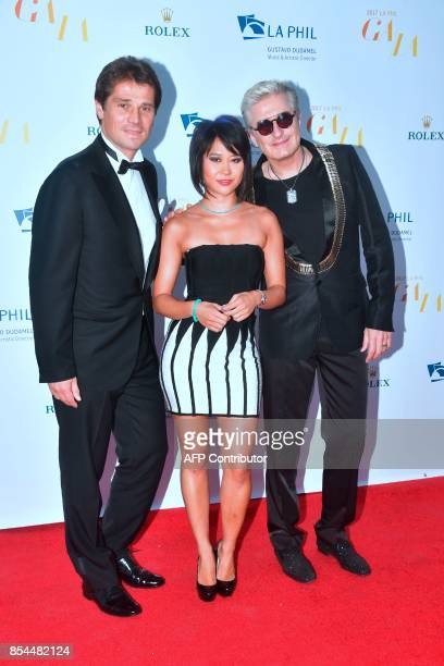 Chinese classical pianinst Yuja Wang French pianinst JeanYves Thibaudet and former pro tennins player Arnaud Boetsch arrive for the Los Angeles...