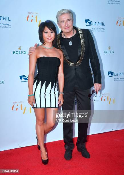 Chinese classical pianist Yuja Wang and French pianist JeanYves Thibaudet arrive for the Los Angeles Philharmonic's 2017/18 Opening Night Gala...