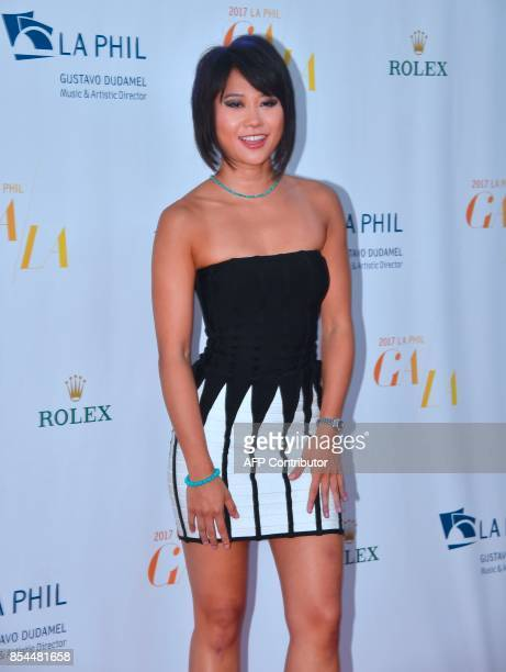 Chinese classical pianist Yuja Wang arrives for the Los Angeles Philharmonic's 2017/18 Opening Night Gala 'Mozart The Early Years' in Los Angeles...