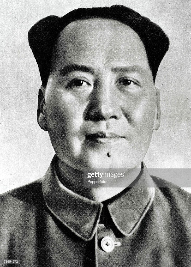 Chinese Communist leader Mao Tse Tung 1893 - 1976, founder of the Communist Party in 1921 and instigator of the Cultural Revolution