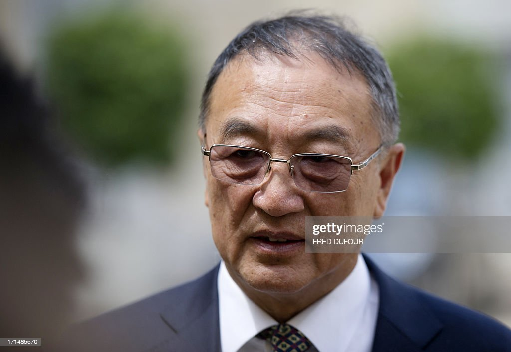 Chinese computer giant Lenovo chairman Liu Chuanzhi leaves the Elysee presidential Palace on June 25, 2013 in Paris after a meeting with French president.