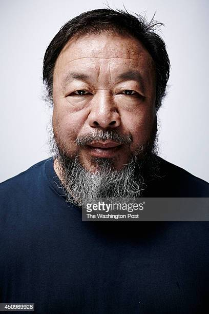 Chinese contemporary artist Ai Weiwei is photographed inside his studio in Beijing China on June 16 2014